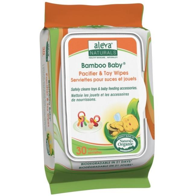 Bamboo Baby Pacifier & Toy Wipes, 30 Count