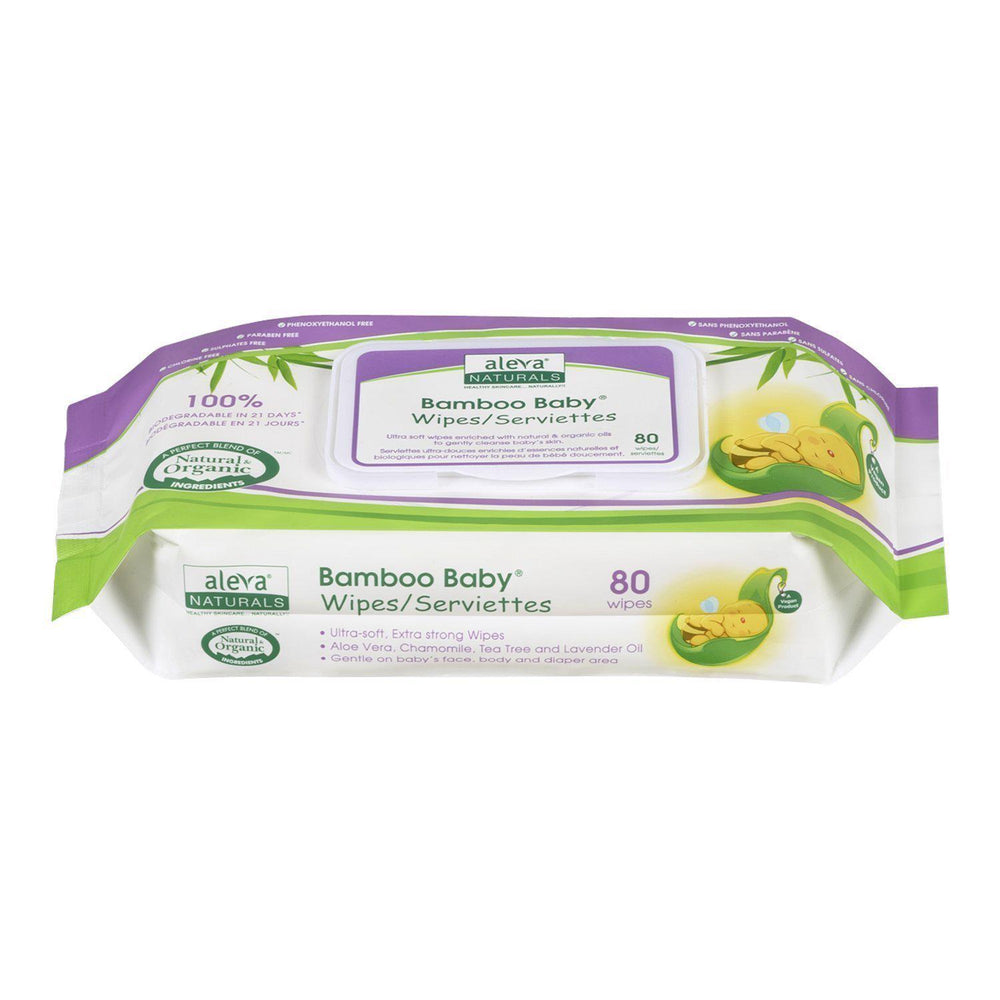 Bamboo Baby Wipes - 80 Count
