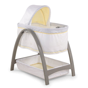 Bentwood Bassinet with Motion - Gray