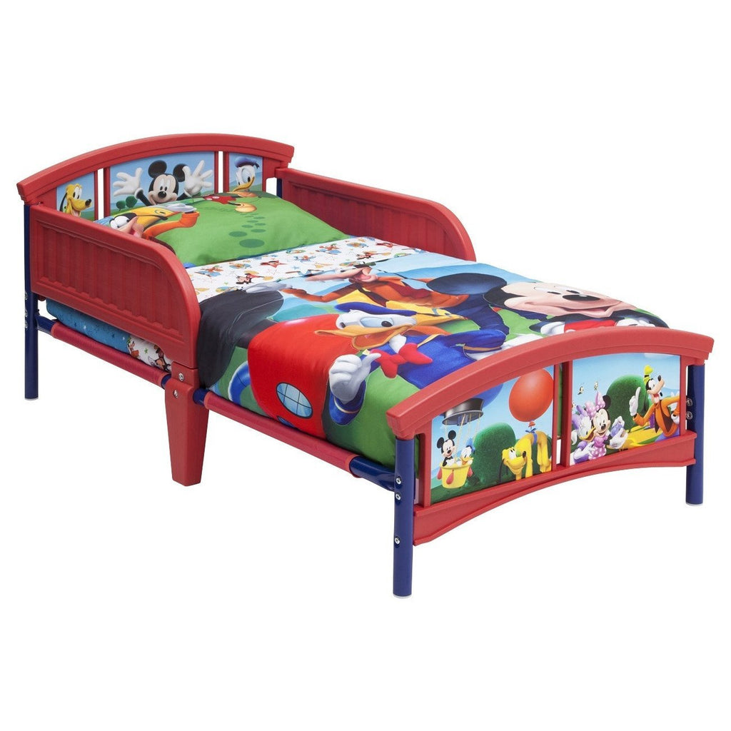Children Mickey Mouse Plastic Toddler Bed