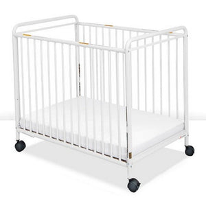 Chelsea Fixed Side Metal Crib with Clearview End Panels