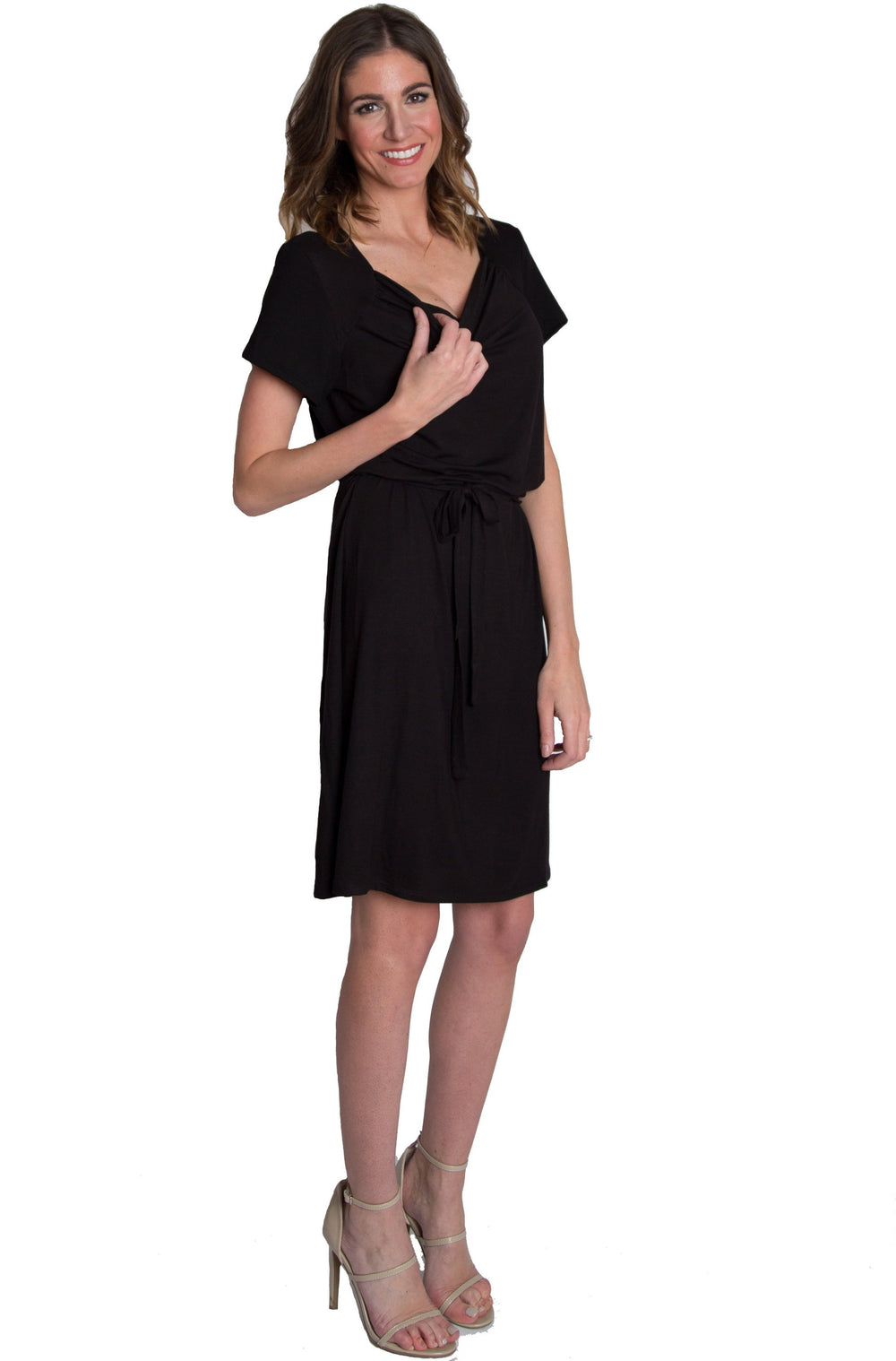 Chic Cowl Nursing Dress