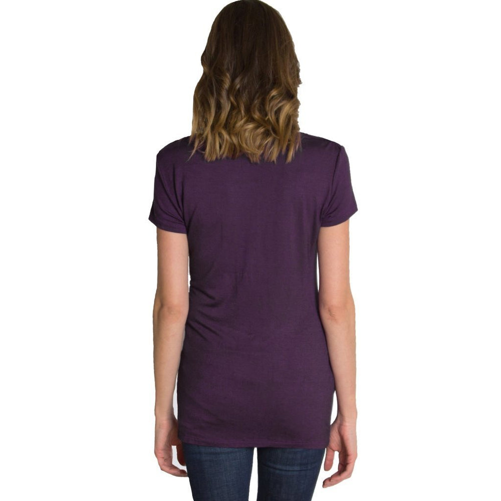 Chic Cowl Nursing Top - Purple