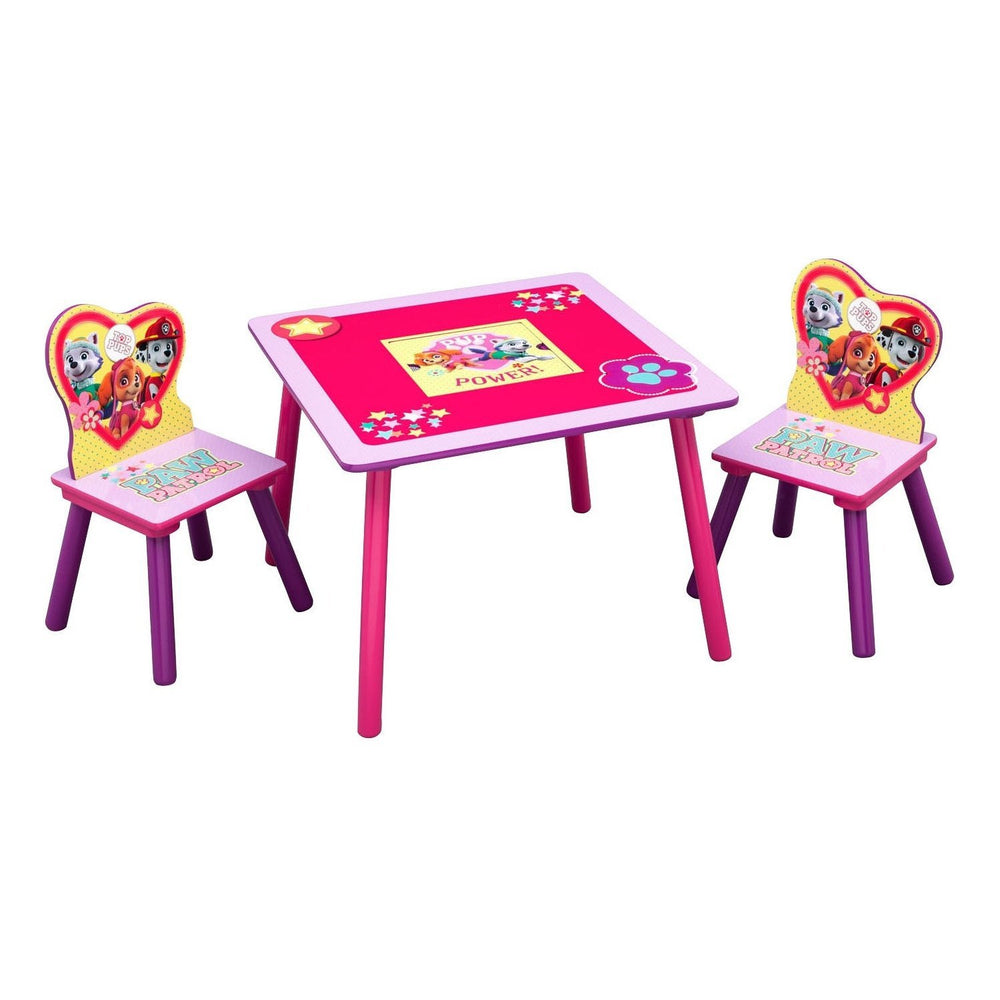 Children PAW Patrol, Skye & Everest Table & Chair Set with Storage