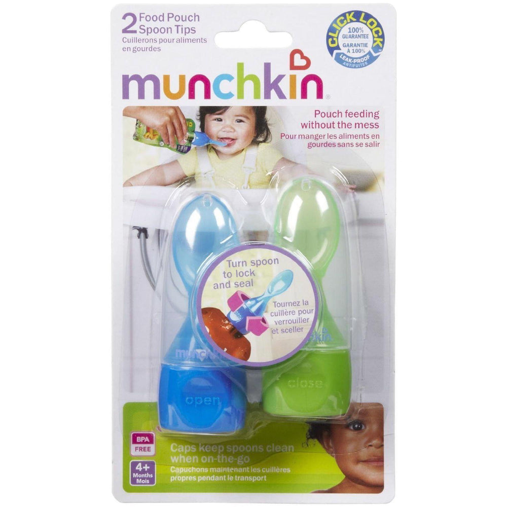 Click Lock Food Pouch Spoon Tips 2pk - Assorted Colors