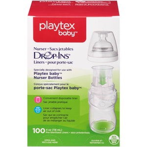 Drop-Ins Liners for Nurser Bottles, 4oz - 100ct