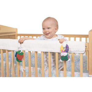 Easy Crib Teether Rail Cover - White