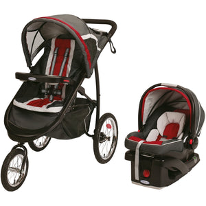FastAction Fold Click Connect Jogger Travel System, Fern