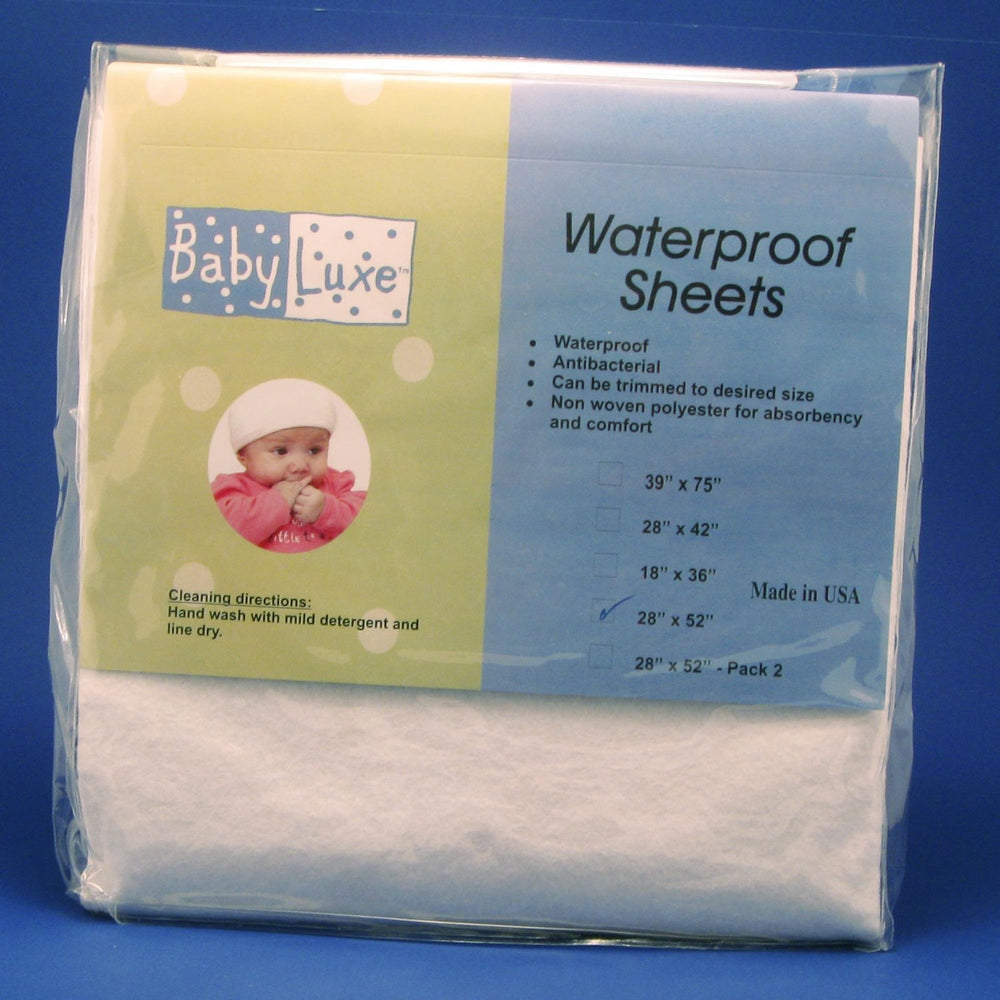 "Fitted Waterproof Crib Sheet - 28"" x 52"""