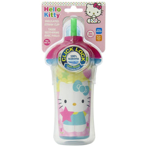 Hello Kitty Click Lock Insulated Straw Cup, 9oz