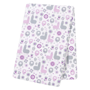 Llama Friends Jumbo Deluxe Flannel Swaddle Blanket