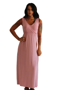 Maddie Nursing Maxi Dress - Blush