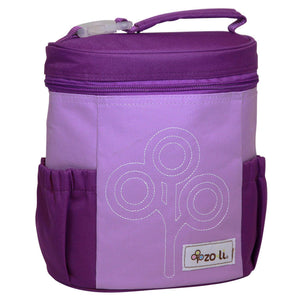 Nom Nom Nylon Lunch Bag - Purple
