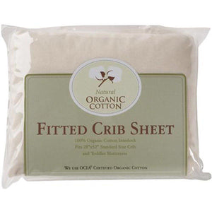 Organic Cotton Interlock Fitted Crib Sheet