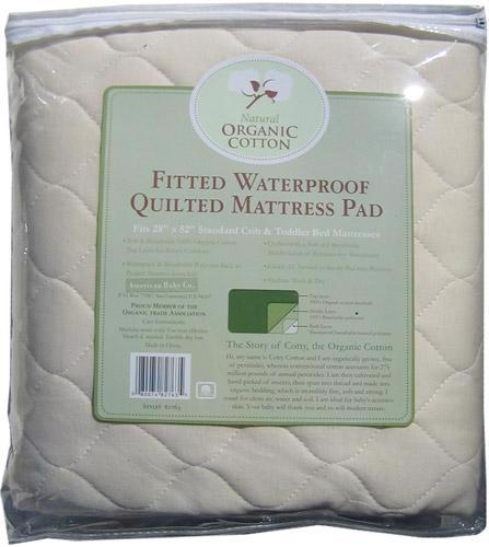 Organic Waterproof Mattress Pad - Crib