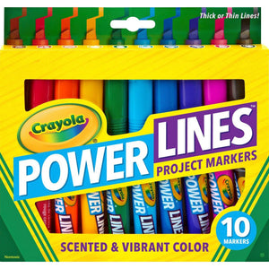 Power Lines 10-color Project Markers