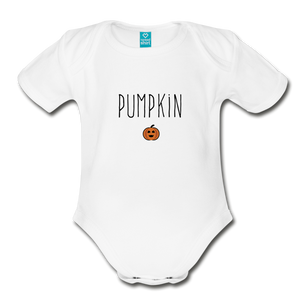 Pumpkin Organic Short Sleeve Bodysuit - white