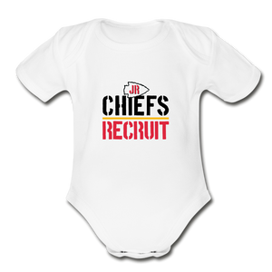 Chiefs Organic Short Sleeve Baby Bodysuit - white