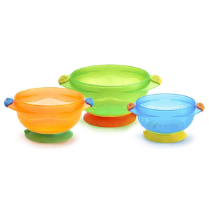 Stay-Put Suction Bowls - 3pk
