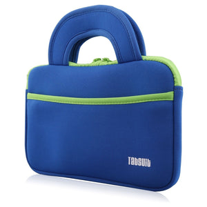 "TabSuit 7"" Ultra-Portable Neoprene Zipper Carry Sleeve Case Bag in Blue"