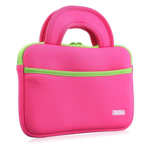 "TabSuit 7"" Ultra-Portable Neoprene Zipper Carry Sleeve Case Bag in Pink"