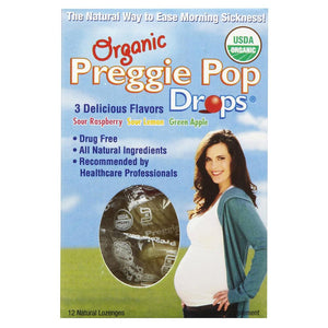 Three Lollies Preggie Pop Drops, Assorted Flavors - 12 Count