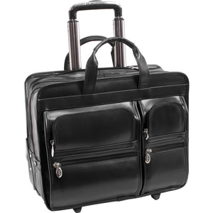 "Tribeca 8777 Carrying Case (Rolling Briefcase) for 15.6"" Document, Bottle, Tablet, Notebook, Umbrella, Pen, Cellular Phone, File, Accessories"