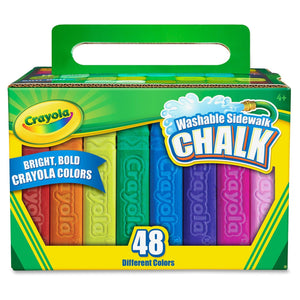 Washable Bright Sidewalk Chalk Sticks