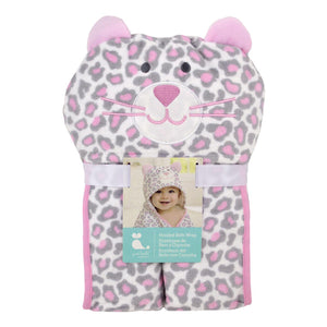 Welcome to the Circus Hooded Born Wrap - Pink Leopard