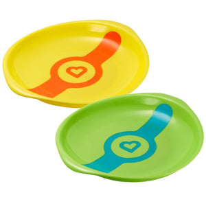 White Hot Toddler Plates, 2ct - Assorted Colors