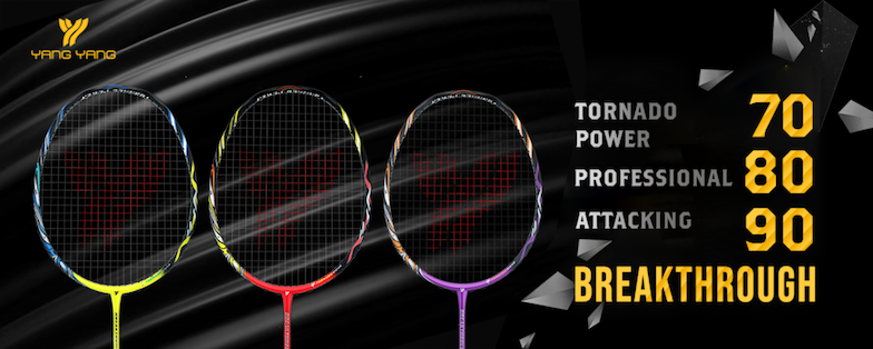 Get the Yang Yang Breakthrough Series Badminton Rackets on sale at Badminton Warehouse