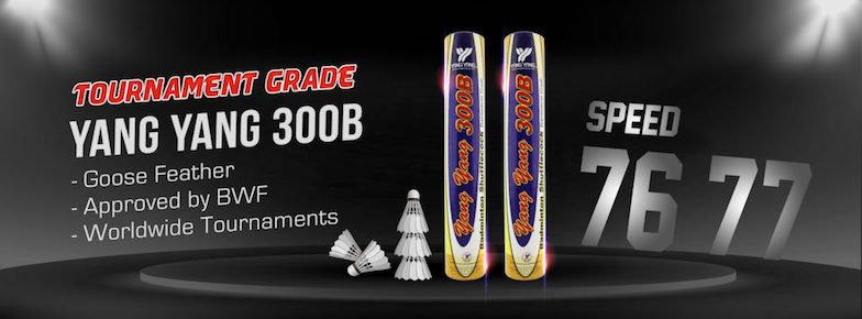 Get the BWF approved Yang Yang 300B goose feather shuttlecocks from Badminton Warehouse