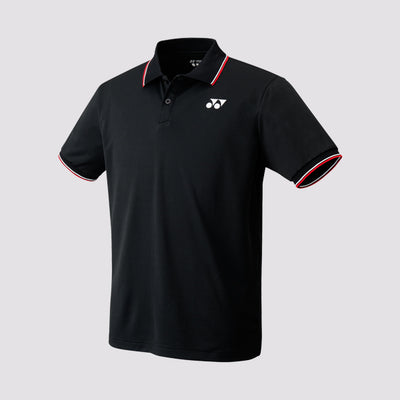 Yonex 10176 Badminton Men's Polo Shirt (Black) - Badminton Warehouse