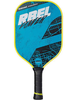 Babolat RBEL Power Pickleball paddle in blue and white color available at Badminton Warheouse