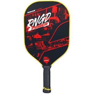 Babolat RNGD Power Pickleball paddle in red black and yellow color available at Badminton Warehouse