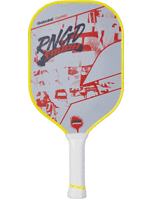 Babolat RNGD Touch Pickleball paddle in white red black and yellow color available at Badminton Warehouse