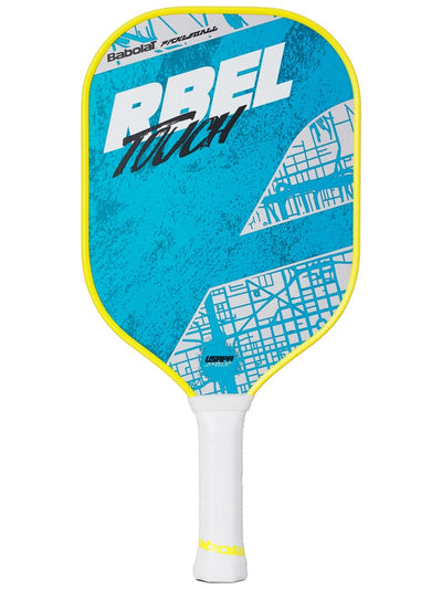 Babolat RBEL Power Pickleball Paddle in blue white and yellow coloron sale at Badminton Warehouse