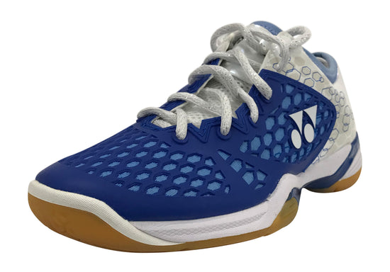 Yonex PC 03 Z LEX Women's badminton shoe in blue and white color available on sale at Badminton Warehouse