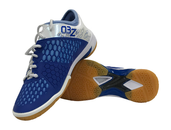 pair of Yonex PC 03 Z LEX Women's badminton shoe in blue and white color available on sale at Badminton Warehouse