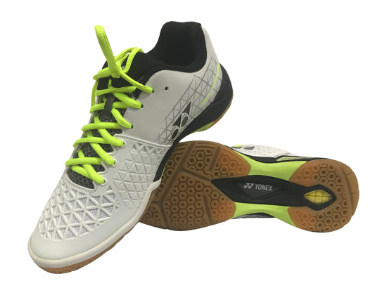 Pair of Yonex Power Cushion Eclipsion X Unisex Badminton Shoe (White/Black) on sale at Badminton Warehouse