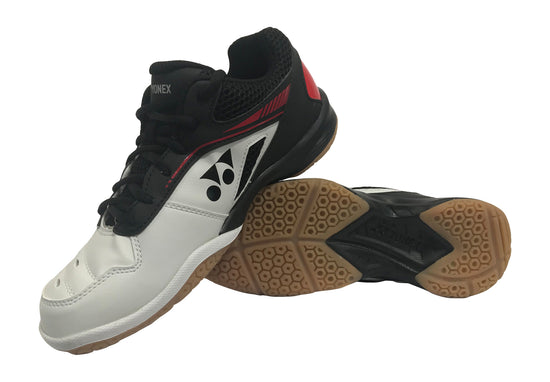 YONEX  POWER CUSHION SHB 65 R2 Badminton shoes in White red and Black color from Badminton Warehouse.  Get one today