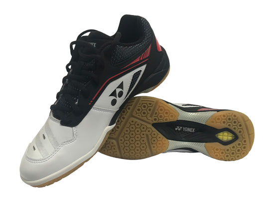 Yonex Power Cushion PC SHB 65Z Men's Badminton Shoe (White/Red) - Badminton Warehouse