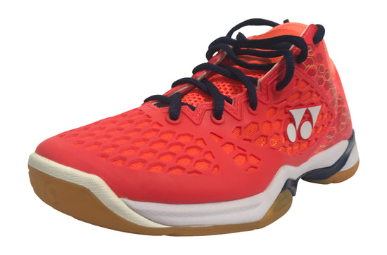Yonex PC 03 Z MEX Men's badminton shoe in coral red color available on sale at Badminton Warehouse
