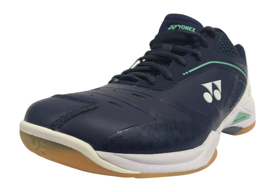 Yonex Power Cushion PC SHB 65 Z Wide Badminton Shoe (Navy/White) - Badminton Warehouse