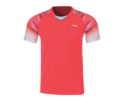 Li-Ning Men's Badminton Shirt in pink color available on sale at Badminton Warehouse