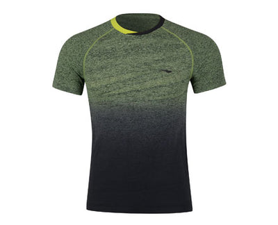 Li-Ning Men's Badminton Shirt in yellow and black color available on sale at Badminton Warehouse