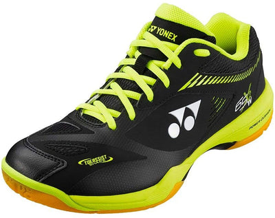 Yonex Power Cushion PC 65X2W (Wide) Black/Acid Yellow Badminton Shoes at Badminton Warehouse