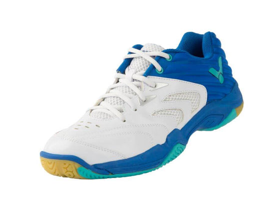 Victor A630 AF Unisex Badminton Shoe (White & Sodalite Blue) - Badminton Warehouse