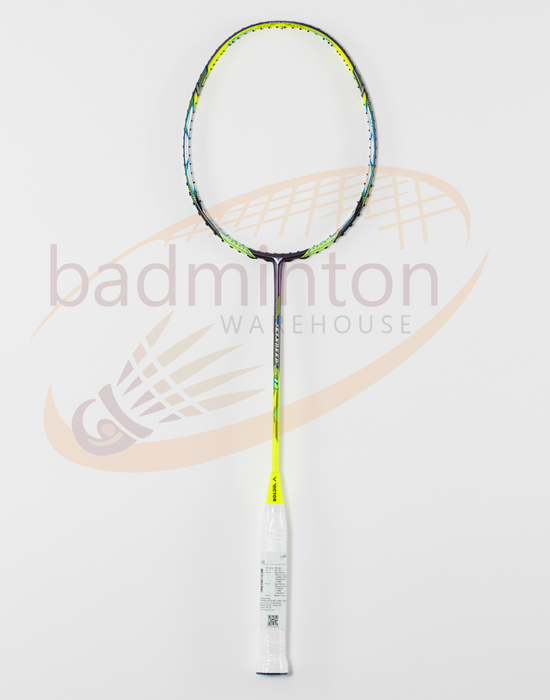Victor Jetspeed S12 Badminton Racket in Yellow, Black, and White color from Badminton Warehouse.  Get one today!