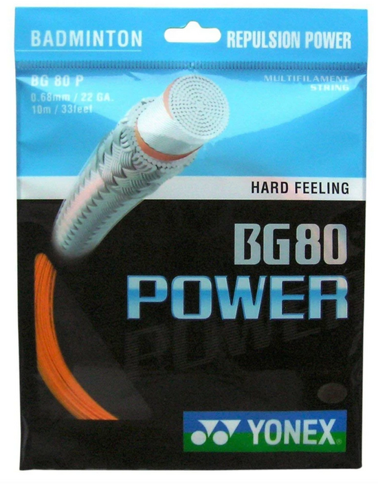 Yonex BG80 Power Badminton String in Orange from Badminton Warehouse